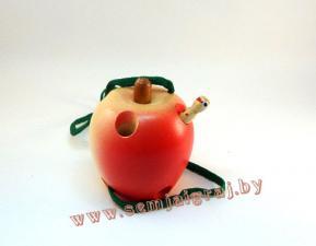 Яблоко цветное Шнуровка