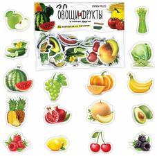 Овощи, фрукты, разные продукты познаем мир, 55 шт Набор магнитов Анданте
