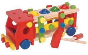 Деревянная разноцветная машина 6021
