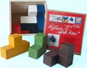 Кубики для всех в деревянном ящике Интеллектуальные развивающие игры Б.П.Никитина