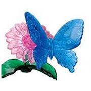 Crystal Puzzle Бабочка Голубая 3Д пазл