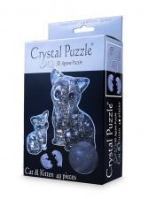 Crystal Puzzle Кошка Серебристая 3Д пазл