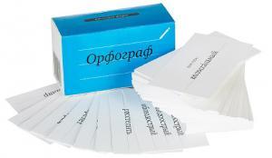 Настольная игра Орфограф русского языка