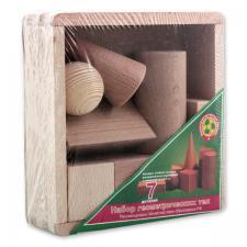 Набор геометрических тел деревянный 7 предметов