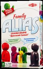 Настольная игра Алиас семейная Скажи иначе для всей семьи компактная версия Alias family