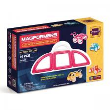 Магнитный конструктор Магформерс Magformers My First Buggy Car set розовый