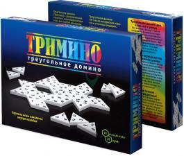 Настольная игра Тримино треугольное домино
