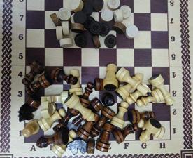 Шахматы шашки 2 в 1