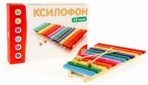 Ксилофон 12 тонов цветной