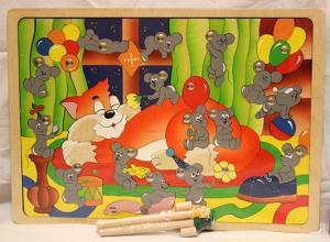 Магнитная рыбалка-мозаика Мышиная охота Крона
