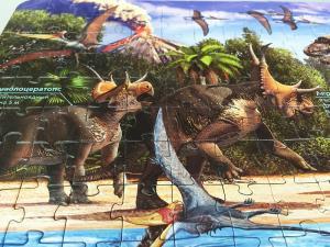 Карта-пазл Динозавры 260 деталей