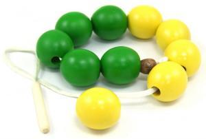 Бусы Счет до 10 желто-зеленые