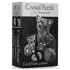 Crystal Puzzle Кошка Черная 3Д пазл