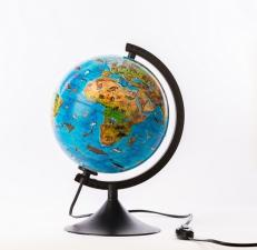 Глобус Зоогеографический Детский 210 мм с подсветкой