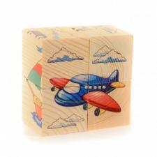 Кубики пазл ТРАНСПОРТ 4 кубика