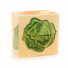 Кубики пазл ОВОЩИ 4 кубика