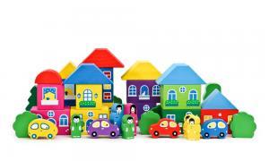 Конструктор Цветной городок 41 деталь Томик