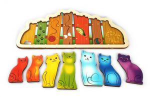 Развивающая доска Разноцветные котята Радуга