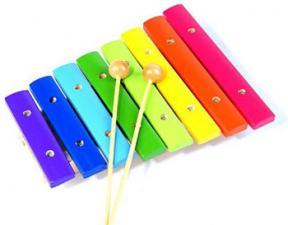 Ксилофон 8 тонов цветной