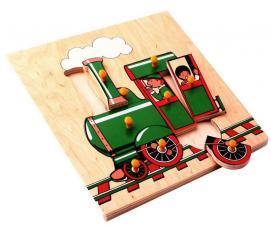 Рамка-вкладыш Поезд Паровоз ЛЭМ