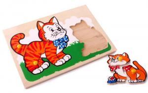 Рамка-вкладыш Кот и котенок ЛЭМ