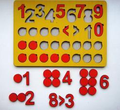 Кружки и цифры планшет