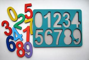 Рамки-вкладыши Цифры Макси