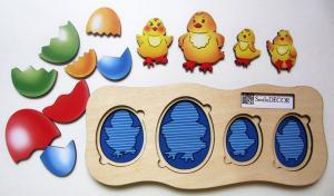 Рамка-вкладыш Цыплята-ребята