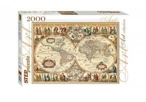 Пазл Историческая карта мира