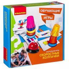 Настольная игра Собери колпачки Обучающие игры Bondibon
