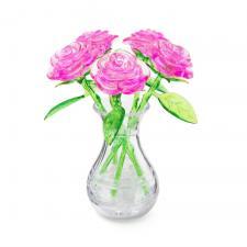 Crystal Puzzle Букет в вазе розовый/красный 3Д пазл