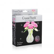 Crystal Puzzle Букет в вазе розовый 3Д пазл