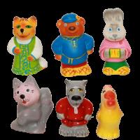 Набор резиновых игрушек Заюшкина избушка