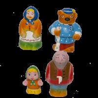 Набор резиновых игрушек Машенька и медведь