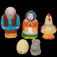 Набор резиновых игрушек Курочка Ряба