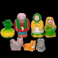 Набор резиновых игрушек Репка в сумочке
