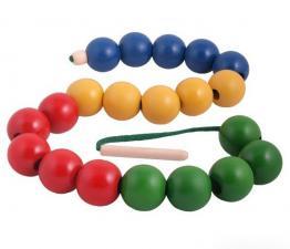 Бусы Радуга шары цветные Д536