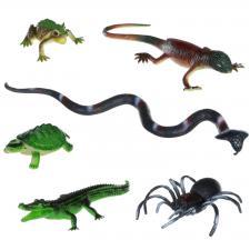 "Набор животных BONDIBON ""Ребятам о Зверятах"", рептилии, 3,5-17"", 6 шт."