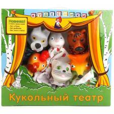 Кукольный театр 3 в 1 Кот-рыболов Кот, петух и лиса, Кот и лиса