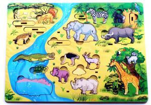 Водопой на Лимпопо 3D африка Развивающая доска