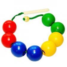 Бусы шары цветные (8 шт) Д-502