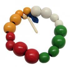 Бусы шары цветные (большие и маленькие) (16шт.) Д-566