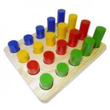 Цилиндры втыкалки 4 ряда  (RNToys)