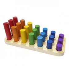 Цилиндры втыкалки Радуга 3 ряда (RNToys)