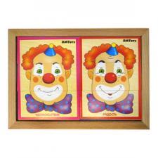 Разрезные картинки Клоун Эмоции (6 шт)