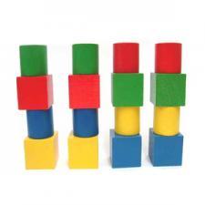 Набор геометрических фигур цветной 16шт