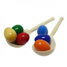 Набор ложек с цветными яйцами