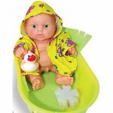 Кукла  Карапуз в ванночке мальчик 20 см