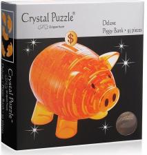 Crystal Puzzle 3D головоломка Копилка хрюшка золотая