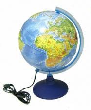 Глобус Земли физико-политический 210 мм с подсветкой Globen